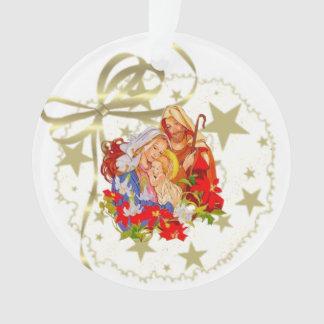 Ornamento da árvore do círculo de Jesus do bebê
