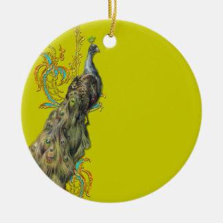 Ornamento da árvore do pavão e de Natal das penas