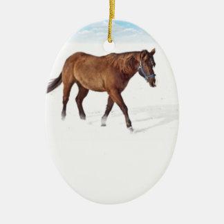 Ornamento da cena do cavalo do inverno