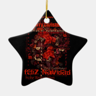 Ornamento da estrela do Xmas Navidad Noel do mundo