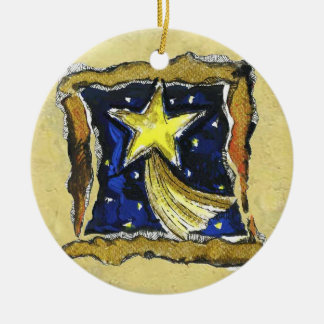 Ornamento da estrela do Xmas, (ouro)
