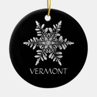 Ornamento da foto do floco de neve a personalizar