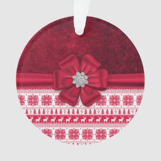 Ornamento da gema do arco do feriado do Natal