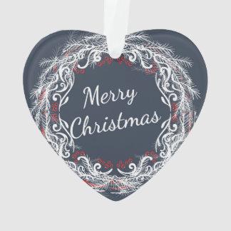 Ornamento da grinalda do Feliz Natal