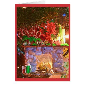 Ornamento da lareira cartões