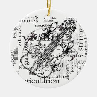 ornamento da nuvem da palavra do violino