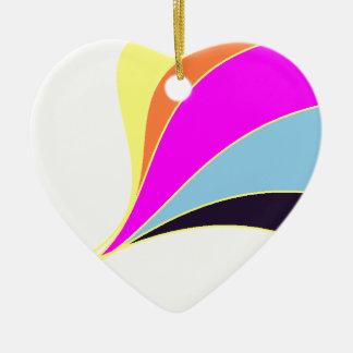 Ornamento dado forma coração de flutuação do