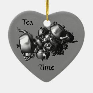 Ornamento de caída da cozinha do coração do