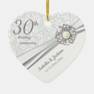 Ornamento De Cerâmica 30o aniversário bonito da jóia da pérola