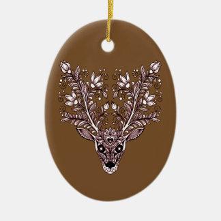 Ornamento De Cerâmica A cabeça do cervo