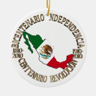 Ornamento De Cerâmica A celebração bicentenária & centenária de México
