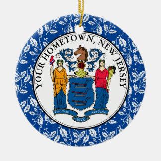 Ornamento De Cerâmica A cidade natal de New-jersey personaliza