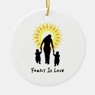 Ornamento De Cerâmica A família é amor Sun