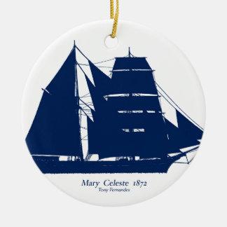 Ornamento De Cerâmica A Mary Celeste 1872 por fernandes tony