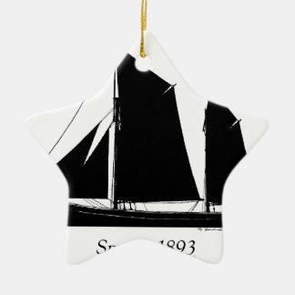 Ornamento De Cerâmica a navigação 1893 smack - fernandes tony