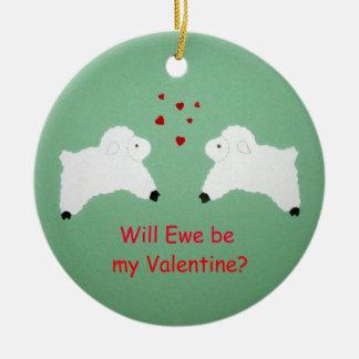 Ornamento De Cerâmica A ovelha será meus namorados?