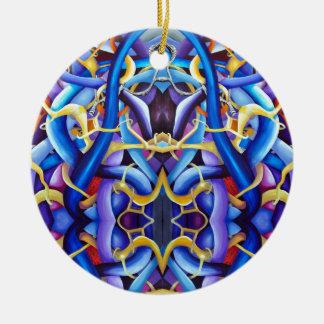 Ornamento De Cerâmica Abstrato contemporâneo do azul - ilusão da