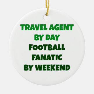 Ornamento De Cerâmica Agente de viagens pelo fanático do futebol do dia