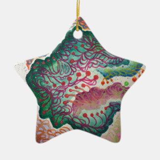 Ornamento De Cerâmica Aguarela botânica da respiração