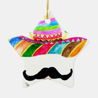 Ornamento De Cerâmica Aguarela do chapéu do Sombrero