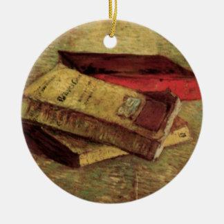 Ornamento De Cerâmica Ainda vida com os três livros por Vincent van Gogh