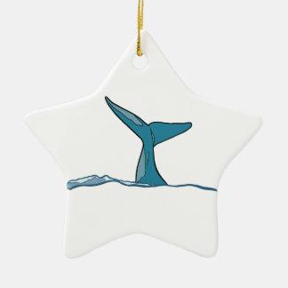 Ornamento De Cerâmica Aleta dos peixes da baleia