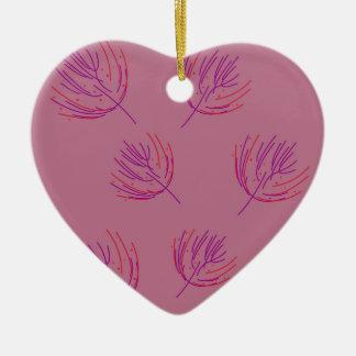 Ornamento De Cerâmica Algas cor-de-rosa