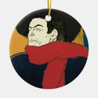 Ornamento De Cerâmica Ambassadeurs: Artistide Bruant por Toulouse