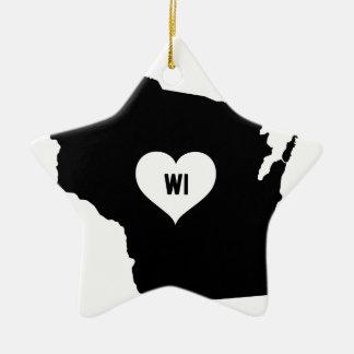 Ornamento De Cerâmica Amor de Wisconsin