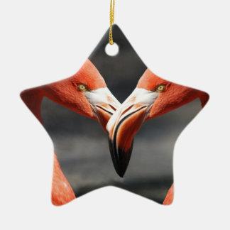 Ornamento De Cerâmica Amor do flamingo