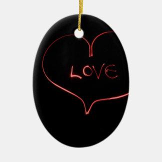 Ornamento De Cerâmica Amor do laser