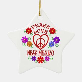 Ornamento De Cerâmica Amor New mexico da paz