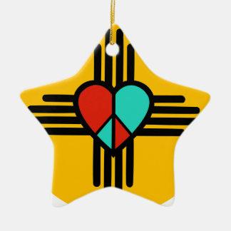 Ornamento De Cerâmica Amor, New mexico, paz