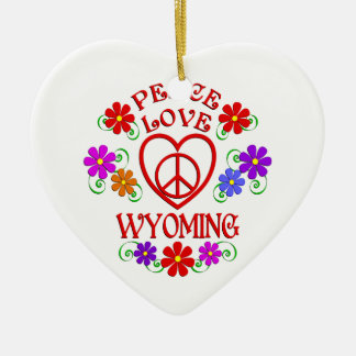 Ornamento De Cerâmica Amor Wyoming da paz