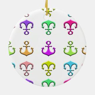 Ornamento De Cerâmica âncoras das cores