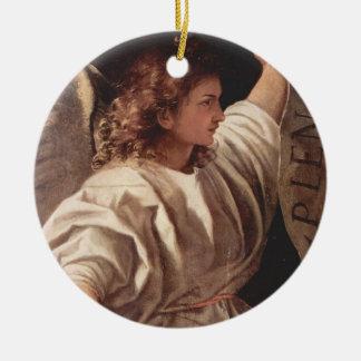 Ornamento De Cerâmica Anjo com bandeira 1522
