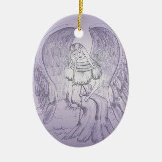Ornamento De Cerâmica Anjo memorável