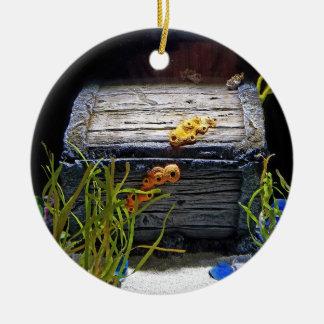 Ornamento De Cerâmica Arca do tesouro subaquática legal