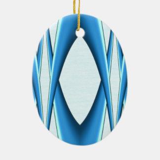 Ornamento De Cerâmica Arco azul futurista