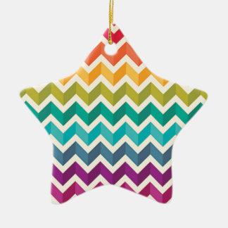 Ornamento De Cerâmica Arco-íris bonito Chevron