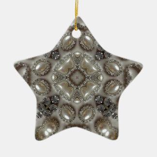 Ornamento De Cerâmica art deco velho da pérola do cristal de rocha do
