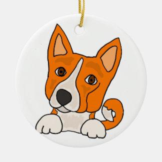 Ornamento De Cerâmica Arte engraçada do cão de filhote de cachorro de