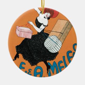 Ornamento De Cerâmica Arte Nouveau do vintage, forma italiana das