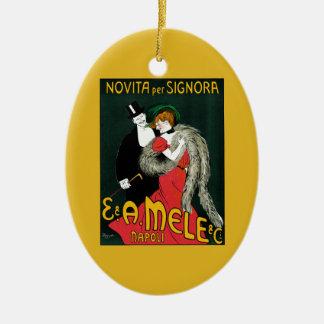 Ornamento De Cerâmica Arte Nouveau do vintage, romance italiano do amor