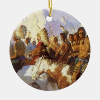 Ornamento De Cerâmica Arte ocidental do vintage, partido indiano da
