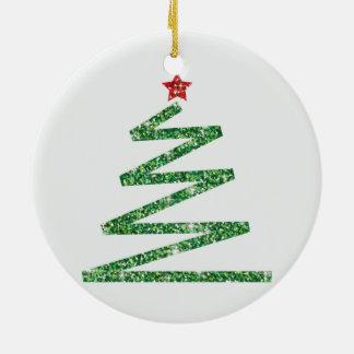 Ornamento De Cerâmica Árvore de Natal do brilho