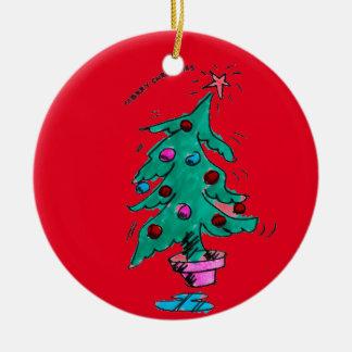 Ornamento De Cerâmica Árvore de Natal - Feliz Natal