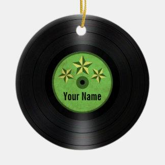 Ornamento De Cerâmica As estrelas verdes personalizaram o álbum gravado