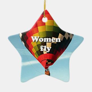 Ornamento De Cerâmica As mulheres voam: balão de ar quente