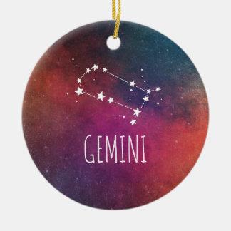 Ornamento De Cerâmica Astrologia dos Gêmeos